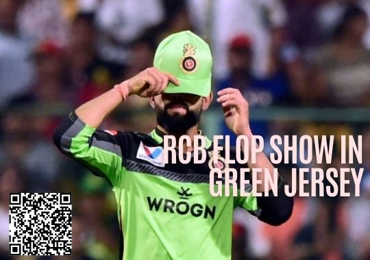 RCB in green jersey