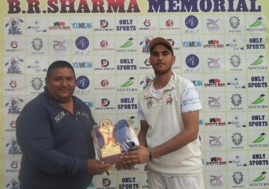 Yash Dabas's brilliant century in BR Sharma Memorial Cricket