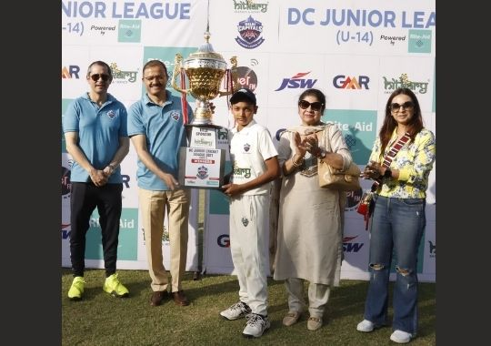 Baba Haridas Cricket Academy wins the Delhi Capitals Junior League title