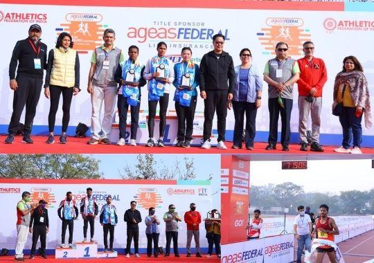Srinu Bugatha, Sudha Singh won Aegis Federal Life Insurance New Delhi Marathon