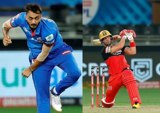 Axar Patel and AB de Villiers won the inaugural IPL 2021 match