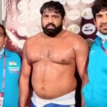 Sumit, 125 Kg. Free Style Wrestler has qualified for 2021 Tokyo Olympic Games.