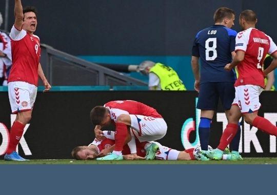 Morten Boesen, who treated Denmark's Chris Ericsson in the Euro Cup 2020